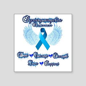 "Syringomyelia awareness Square Sticker 3"" x 3"""