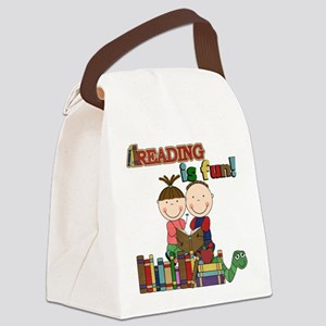 Reading is Fun Canvas Lunch Bag