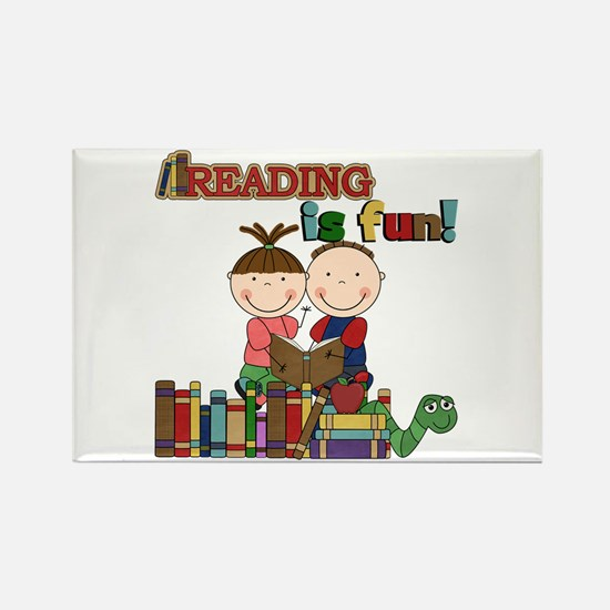 Reading is Fun Rectangle Magnet