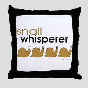 snail-darker Throw Pillow