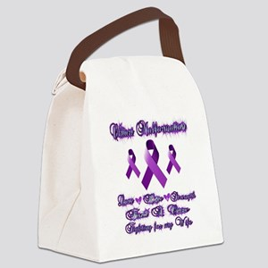 Fighting Chiari for my Wife Canvas Lunch Bag