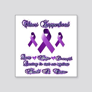 "Zipperhead Chiari Awareness Square Sticker 3"" x 3"""