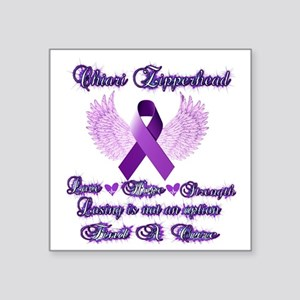 "Zipperhead Chiari Malformat Square Sticker 3"" x 3"""