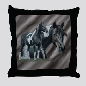 Pinto Horse Throw Pillow