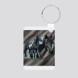 Pinto Horse Keychains