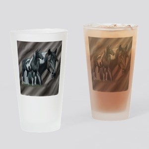 Pinto Horse Drinking Glass