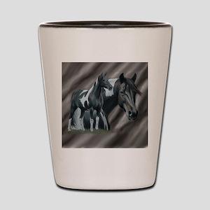 Pinto Horse Shot Glass