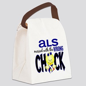 ALS Messed With Wrong Chick Canvas Lunch Bag