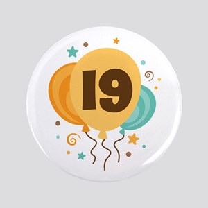 "19th Birthday Party 3.5"" Button"