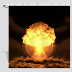 Drop the bomb Shower Curtain