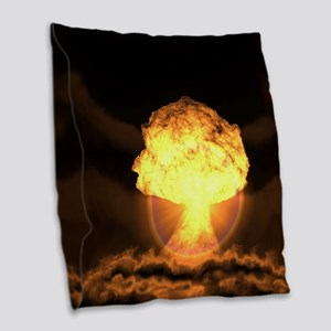 Drop the bomb Burlap Throw Pillow