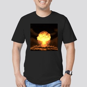 Drop the bomb Men's Fitted T-Shirt (dark)