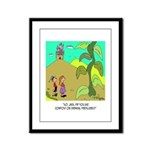 Jack and The Bean Stalk Use Fertilizer Framed Pane