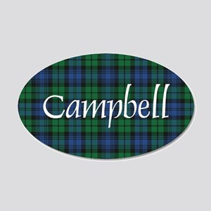 Tartan - Campbell 20x12 Oval Wall Decal