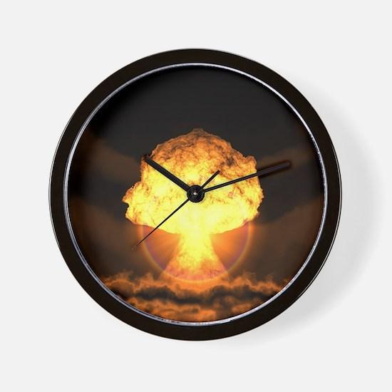 Drop the bomb Wall Clock