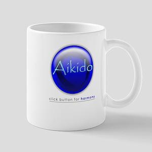 Aikido Blue Button Mug