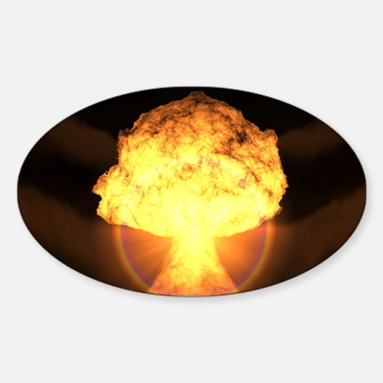Drop the bomb Sticker (Oval)