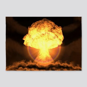 Drop the bomb 5'x7'Area Rug