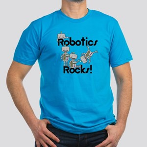 Robotics Rocks Men's Fitted T-Shirt (dark)