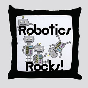 Robotics Rocks Throw Pillow