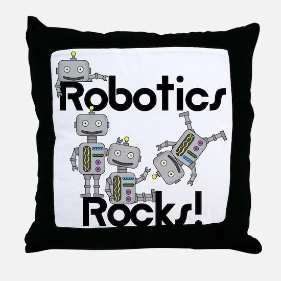 Robotics Rocks Throw Pillow