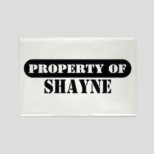Property of Shayne Rectangle Magnet