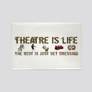 Theatre is Life Rectangle Magnet