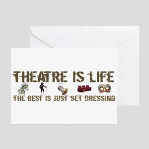 Theatre is Life Greeting Cards (Pk of 10)