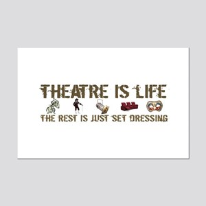Theatre is Life Mini Poster Print