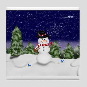 Snowman Scene (GC) Tile Coaster
