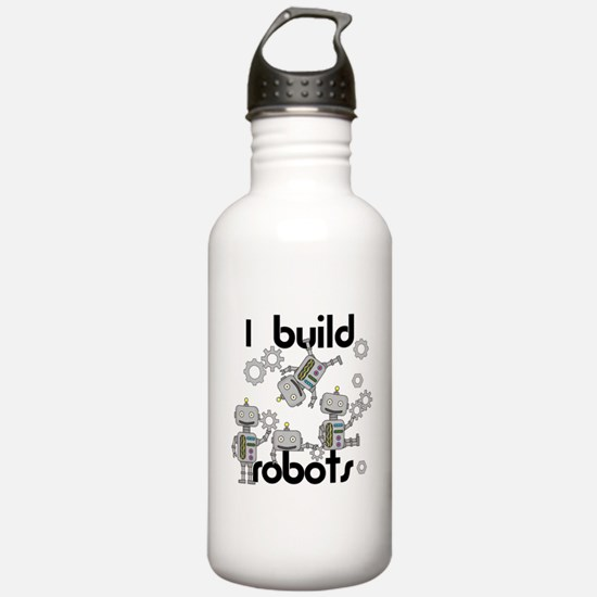 I Build Robots Water Bottle