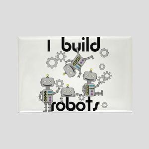 I Build Robots Rectangle Magnet