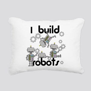 I Build Robots Rectangular Canvas Pillow