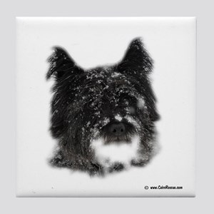 Snow Dog Tile Coaster