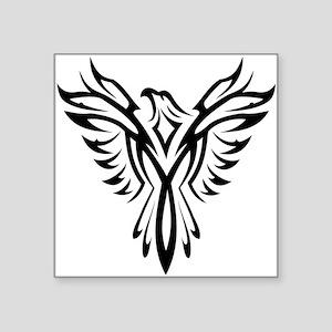 """Tribal Phoenix Tattoo Square Sticker 3"""" x 3"""""""