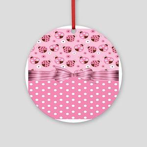 Ladybug Love Ornament (Round)