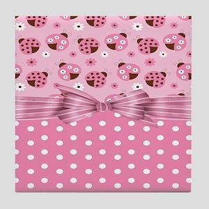 Ladybug Love Tile Coaster