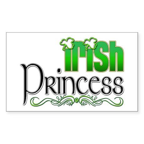 Irish Princess Sticker (Rectangle)