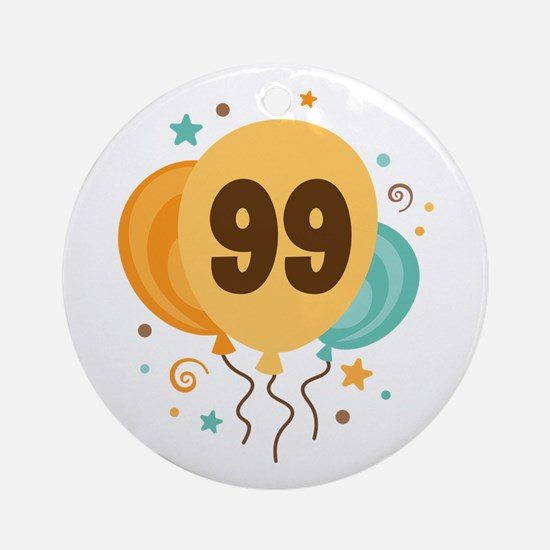 99th Birthday Party Ornament (Round)