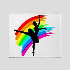 GRACEFUL DANCER Throw Blanket