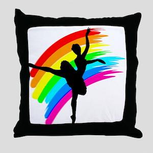 GRACEFUL DANCER Throw Pillow