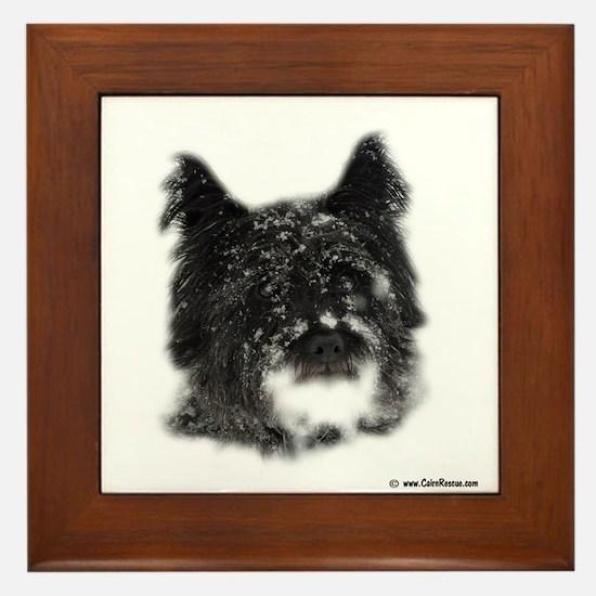 Snow Dog Framed Tile