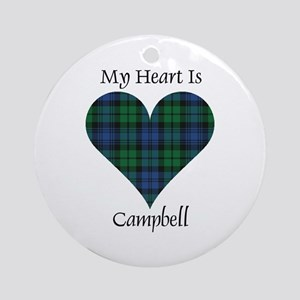 Heart - Campbell Ornament (Round)