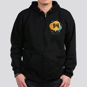 94th Birthday Party Zip Hoodie (dark)