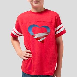 obama heart tee Youth Football Shirt