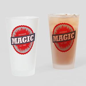 Magic Mountain Ski Resort Vermont Red Drinking Gla