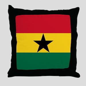 Flag of Ghana Throw Pillow