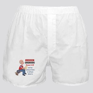 Funny Knows It All Retirement Boxer Shorts