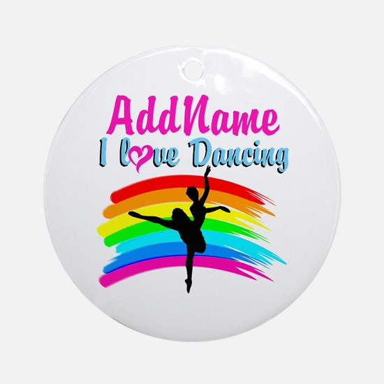 DANCING GIRL Ornament (Round)