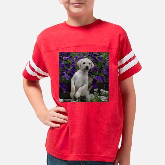 flowerpuppyRdOrn Youth Football Shirt